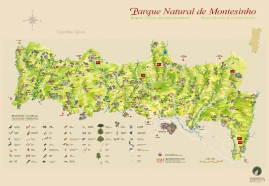 Mapa do Parque Natural de Montesinho